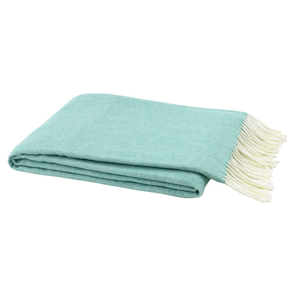 Herringbone Aqua Decorative Throw