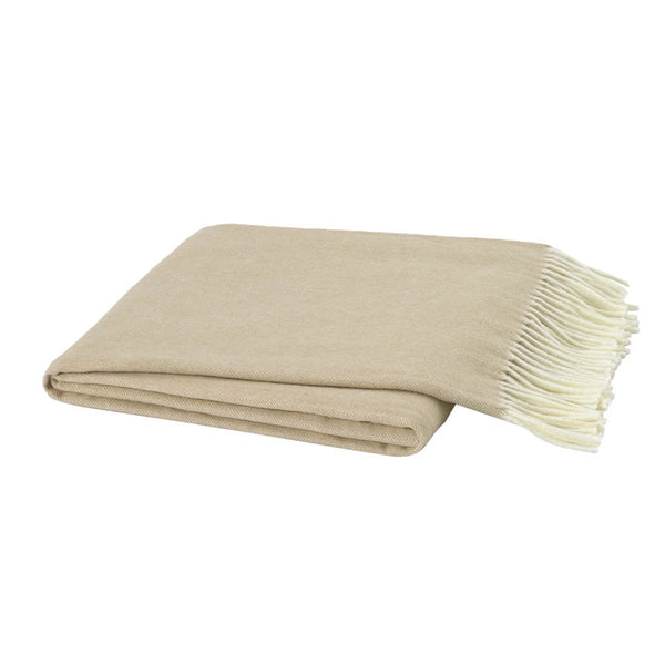 Herringbone Soft Linen Decorative Throw