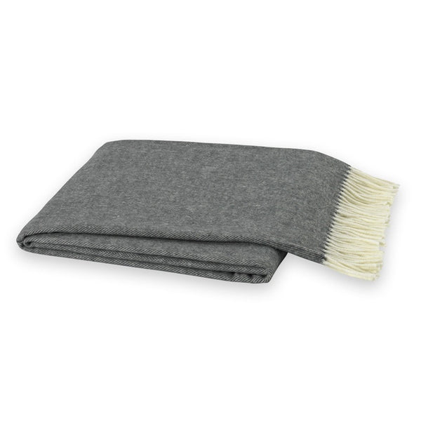 Herringbone Charcoal Decorative Throw