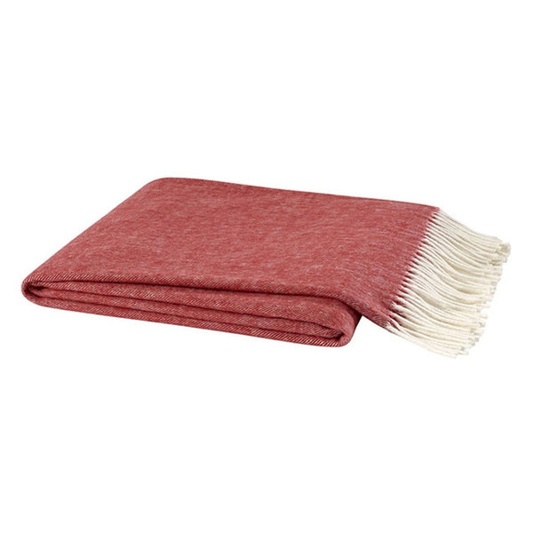 Herringbone Poppy Red Decorative Throw