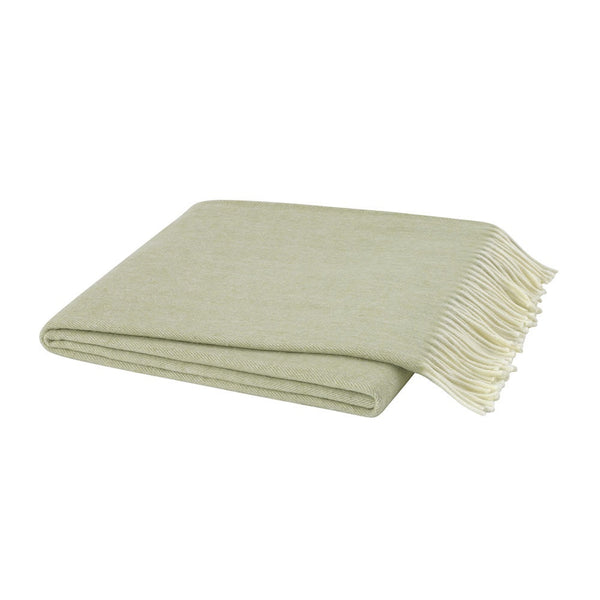Herringbone White Sage Decorative Throw