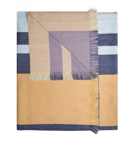 Indigo Gold Alpaca Reversible Throw