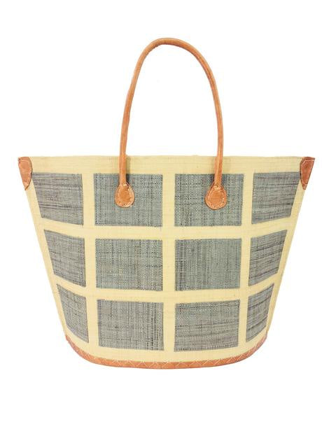 Capri Grey Squares Small Tote