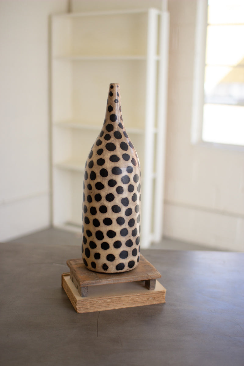 Clay Lenca Cheetah Vase