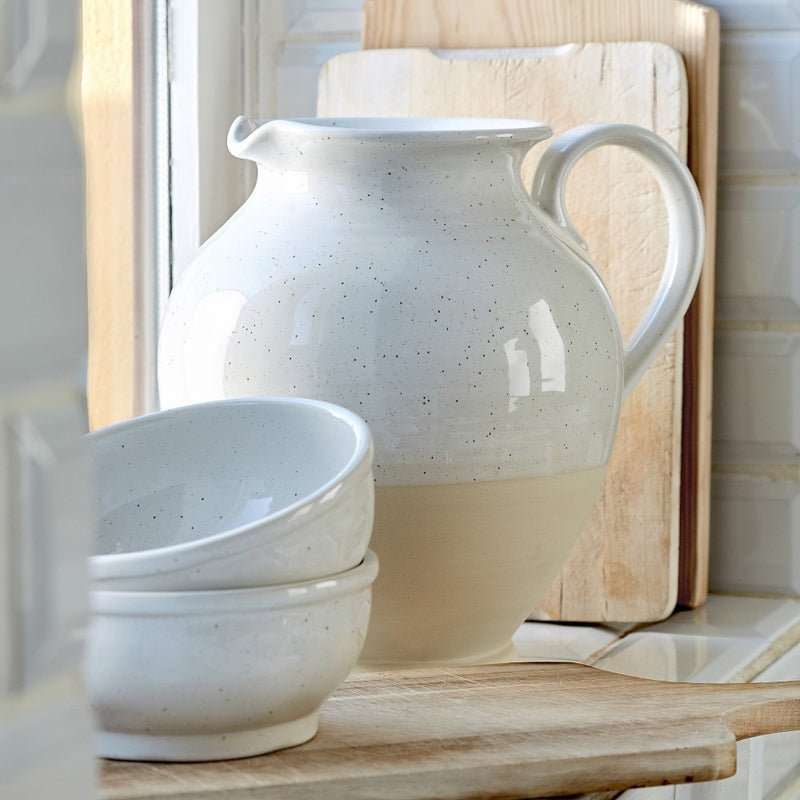 Fattoria Large White Farmhouse Pitcher