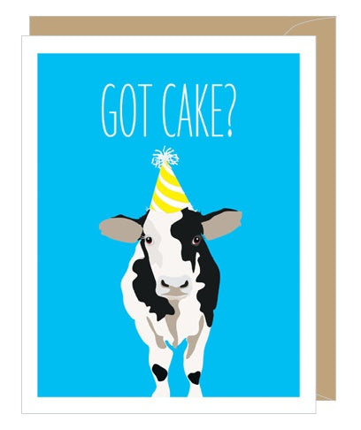 Cow Got Cake Birthday Card
