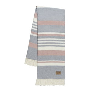 Portside Pink & Light Gray Throw