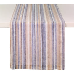Multi Stripe Marina Linen Runner