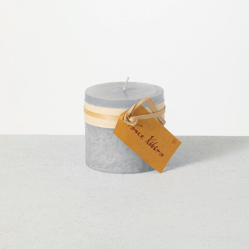 Dove Timber Pillar Candle