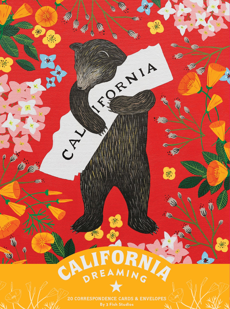 California Dreaming Note Cards