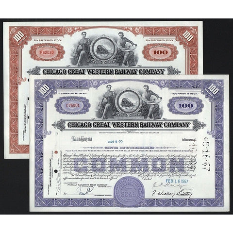 Chicago Great Western Railway Company Stock Certificate