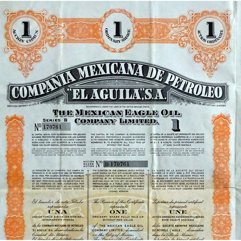 "Compania Mexicana de Petroleo ""El Aguila"", S.A. - The Mexican Eagle Oil Company Limited"