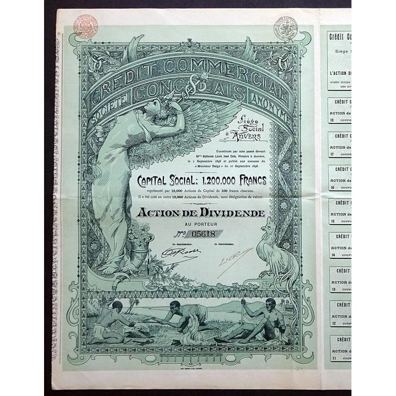 Credit Commercial Congolais Stock Certificate