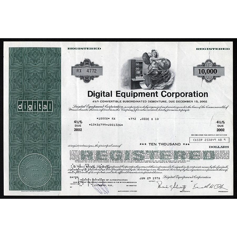 DEC - Digital Equipment Corporation - Artonpapers