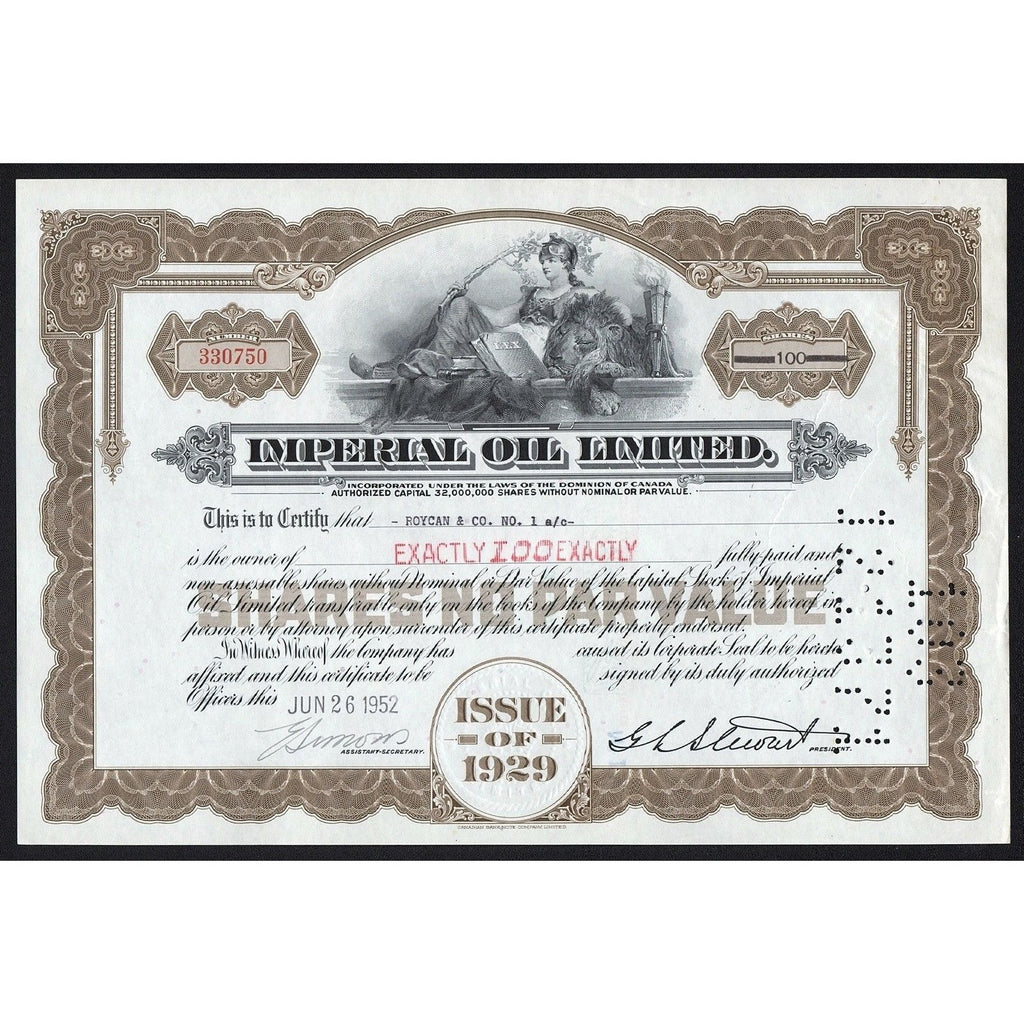Imperial Oil Limited Stock Certificate
