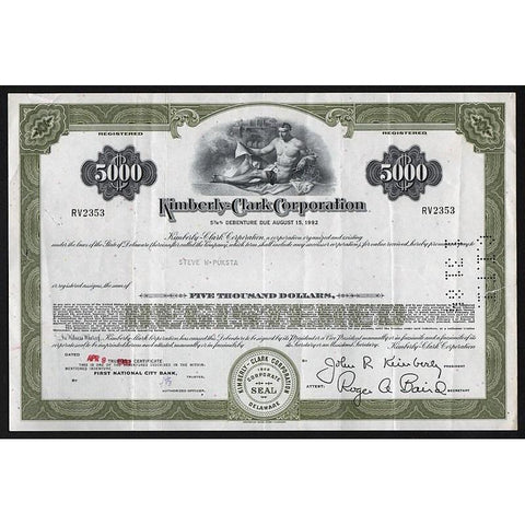 Kimberly-Clark Corporation Stock Certificate