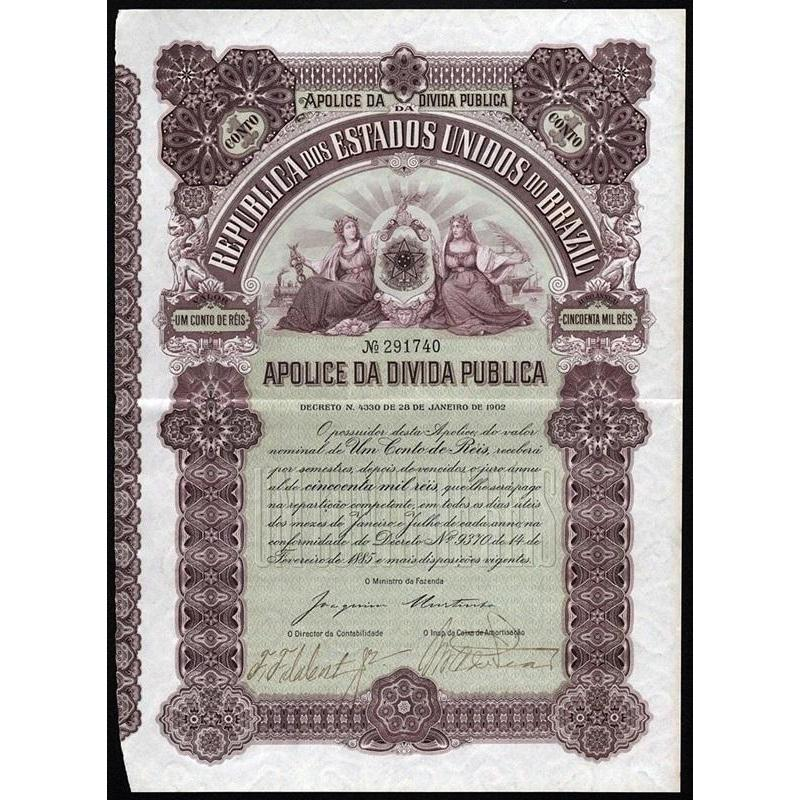 Republica dos Estados Unidos do Brazil Stock Certificate