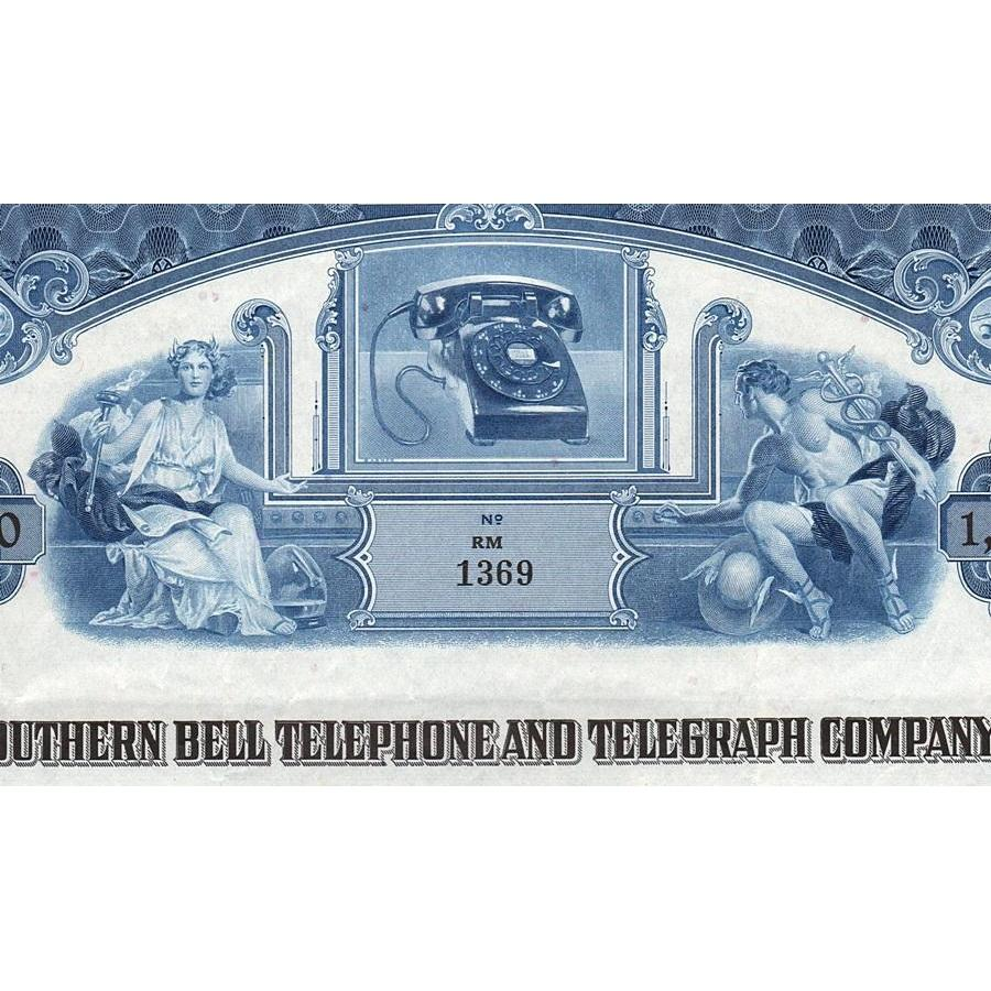 Southern Bell Telephone and Telegraph bond certificate