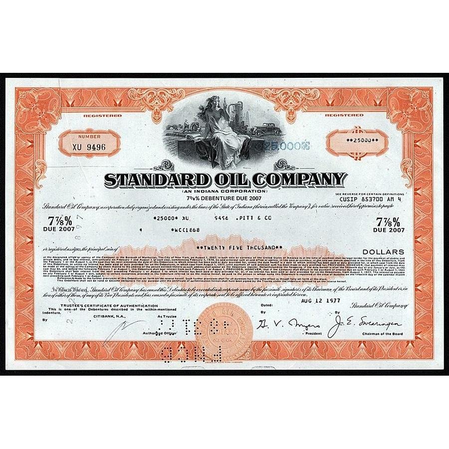 Standard Oil Company Stock Certificate
