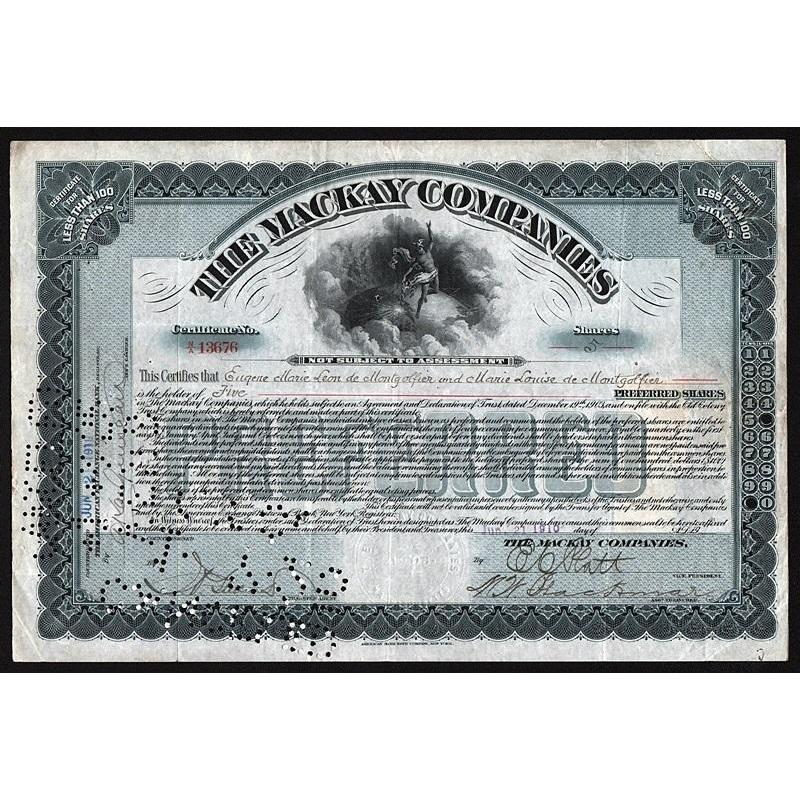 The Mackay Companies Stock Certificate