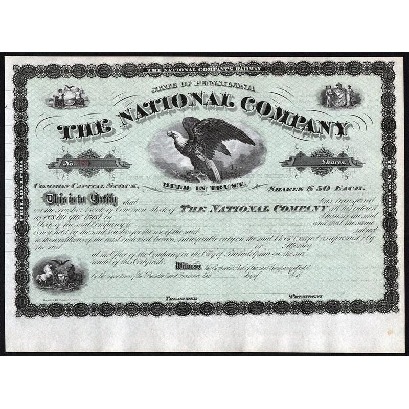 The National Company Stock Certificate