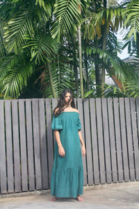 Felice Maxi Dress in Emerald