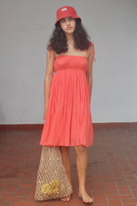 Jasmine Sundress in Coral