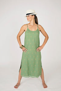 Maya Slip Dress Khaki