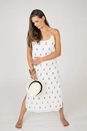 Maya Slip Dress White