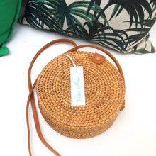 Raffia Structured Circular Hand Bag