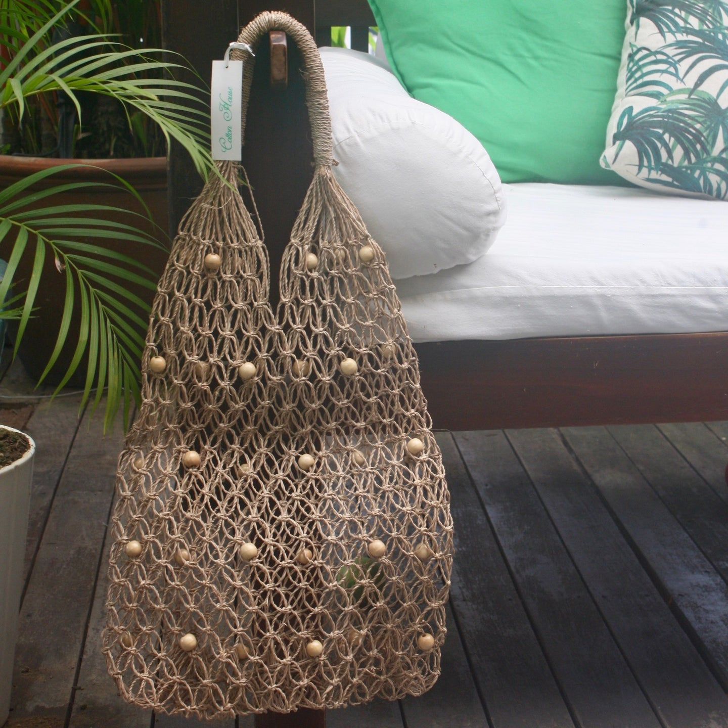 Natural, Shopper, Bag, String Bag, 70's style, Retro Style