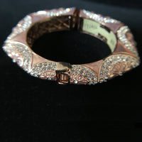 Daisy Design Rose Gold Plated Hinge Bracelet with CZ