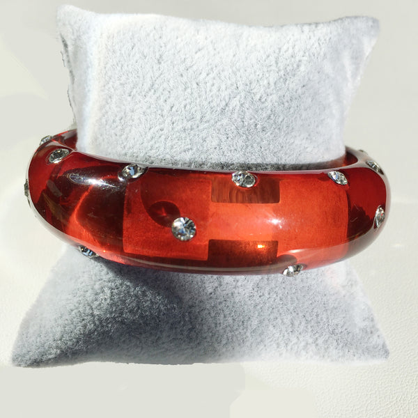 Resin bangle with CZs