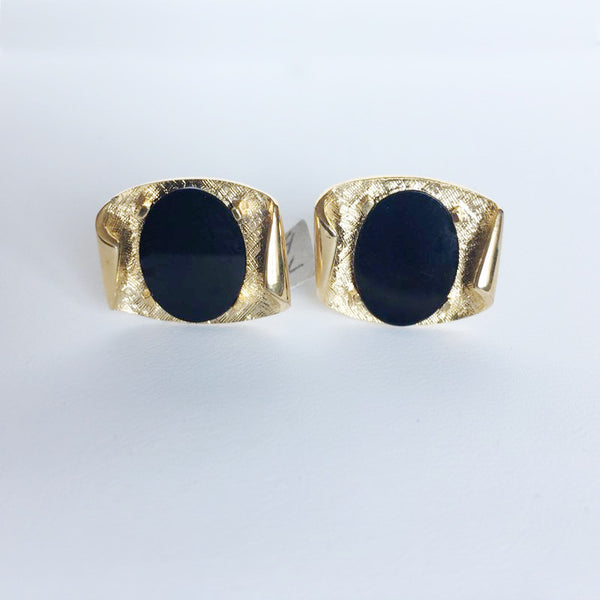 18K Gold Plated Cufflinks with ONYX