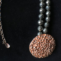 Rose Gold Pop Jewel Necklace with Pyrite