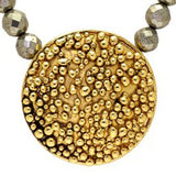 Gold Pop Jewel Necklace with Pyrite