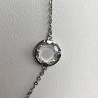 14K Vermeil Necklace with Faceted CZ, 36""