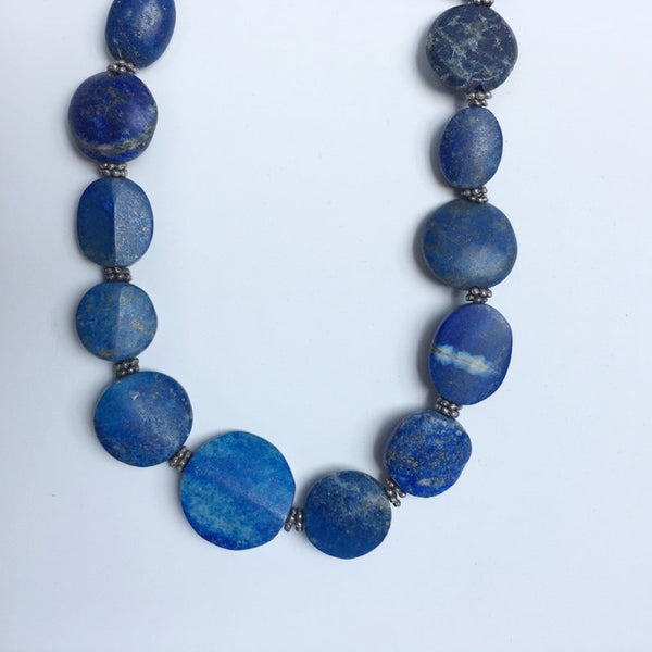 Primitive Natural Lapis Stone Necklace