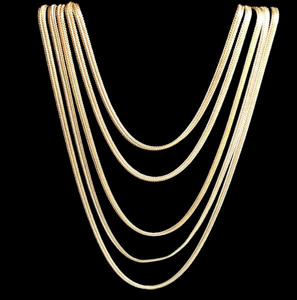 24K Gold Plated Layered Necklace