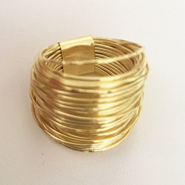 18K Gold Plated Wire Wrapped Ring
