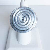 Contemporary, Spiral Ring, Zinc Metal