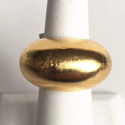 18K Gold Plated Domed Ring