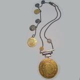 14K Gold Coin Sterling Silver Necklace / Bracelet Combo