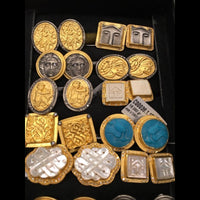 Assorted Gold Cufflinks