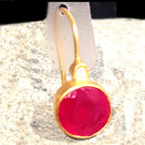Ruby Gem Candy Earrings: 24K