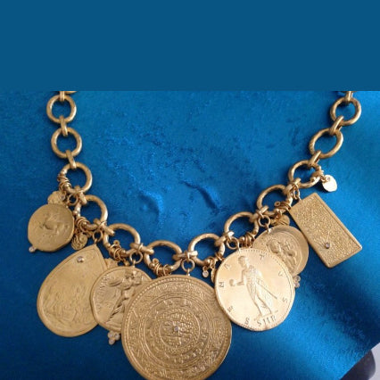 24K Gold Hanedan Dangling Coin Necklace