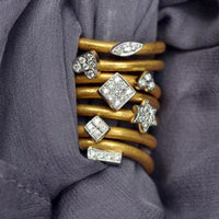24K Gold Canoe Ring (Top Ring Only Available)