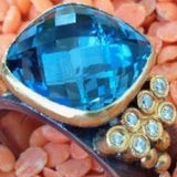 London Blue Topaz with Cascading Diamonds
