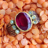 Round Ruby Solitaire Ring