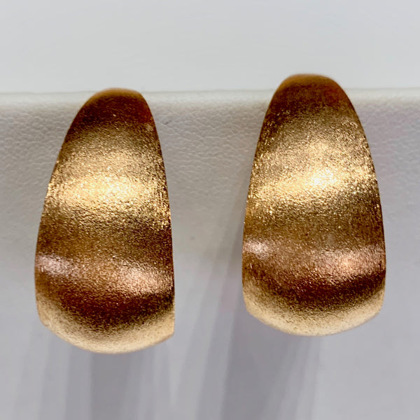 Thick Half Hoop Earrings - Rose Gold